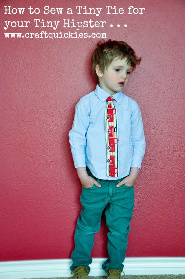 How to Sew a Skinny Tie for your Tiny Hipster from Craft Quickies