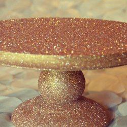 Glitter Cake Stand Tutorial