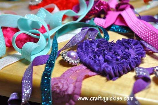 Shabby Heart Headband Tutorial 1