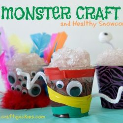 Crafting with Kids: Monster Craft and Healthy Snow Cones