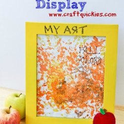 Display Super Schoolwork with a Chalkboard Frame