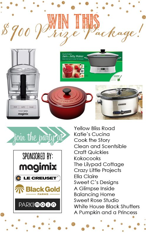 This AMAZING giveaway is worth $904!!  What an amazing win for any cook!