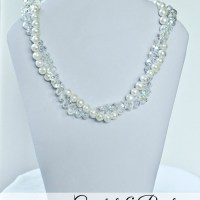 Crystal and Pearl Necklace Tutorial