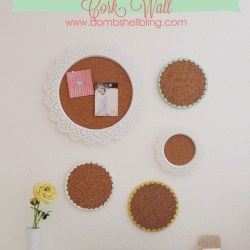 Doily and Scalloped Edge Cork Wall