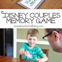 Disney Couples Memory Game
