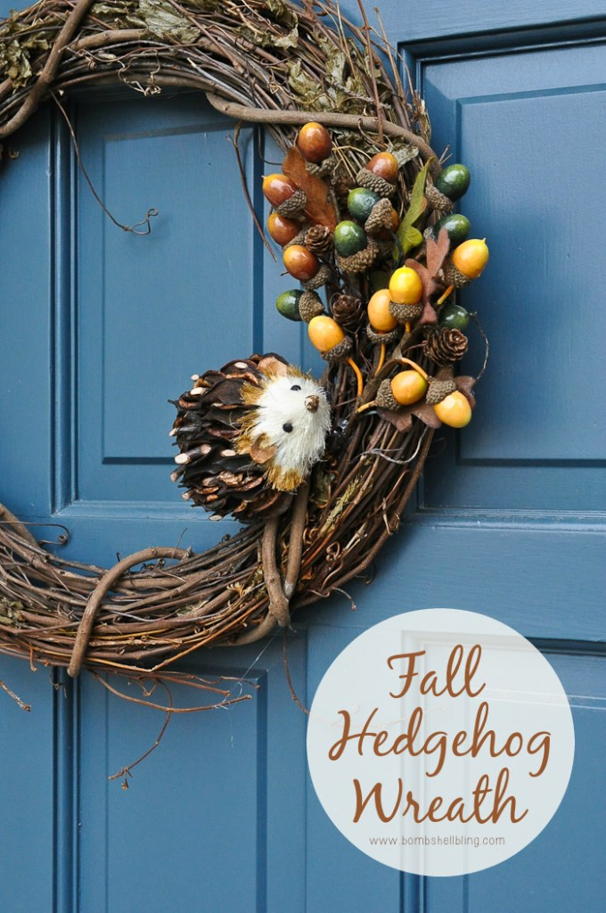 Fall Hedgehog Wreath