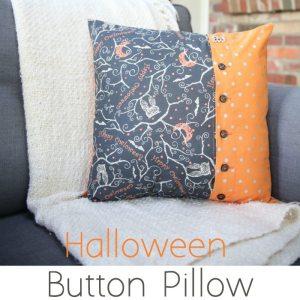 Halloween Button Pillow Tutorial