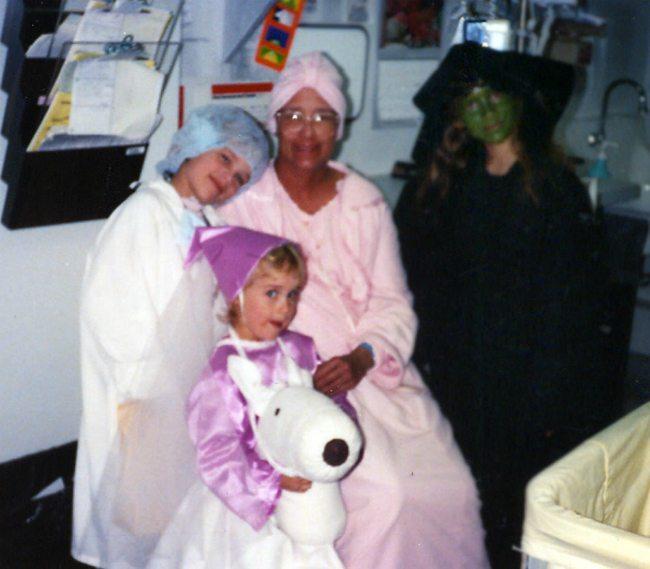 Mom Halloween in the Hospital