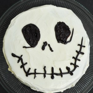 A Jack Skellington Cake for The Nightmare Before Christmas lovers! Too fun!