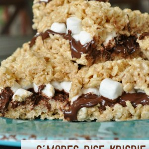 S'mores Rice Krispie Treat Sandwiches Recipe