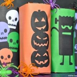 Printable Halloween Milk Box Wrappers