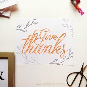 Give Thanks Printable