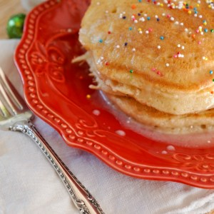 Sugar Cookie Pancakes for Christmas Morning