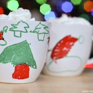 Painters Christmas Mugs Kid Craft-3