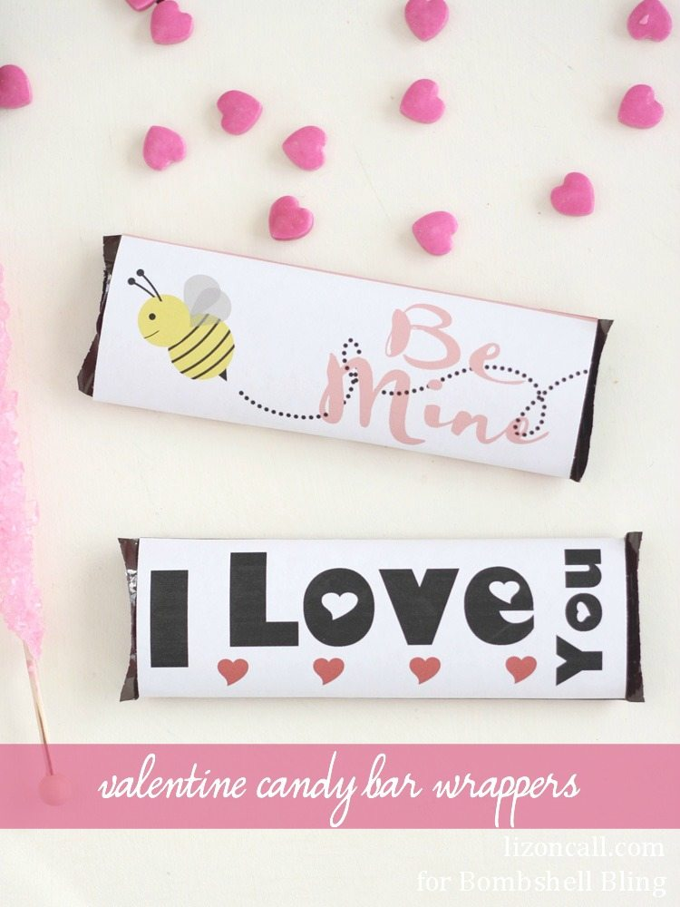 Valentine Candy Bar Wrappers FREE Printable for Valentine\u0027s Day