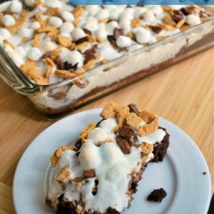 easy-s'mores brownies