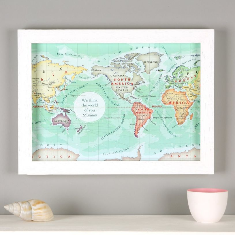 You are my world map print A4 Personalised map anniversary gift