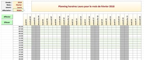 Créer des calendriers et plannings automatiques avec Excel
