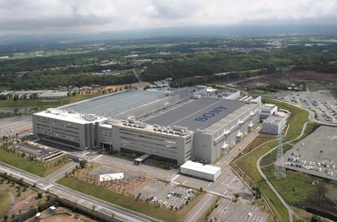 Sony fabriek in Japan