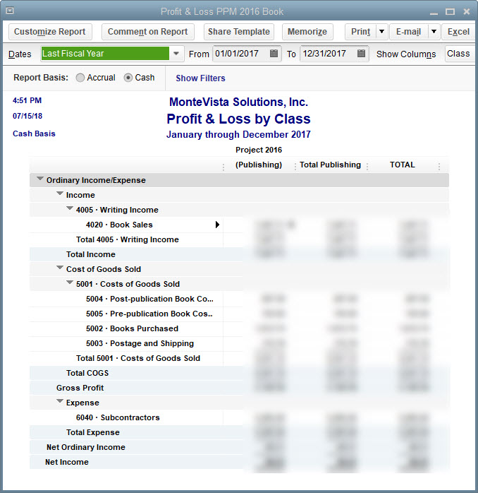 Analyzing Profit and Loss with QuickBooks Classes \u2013 Bonnie Biafore