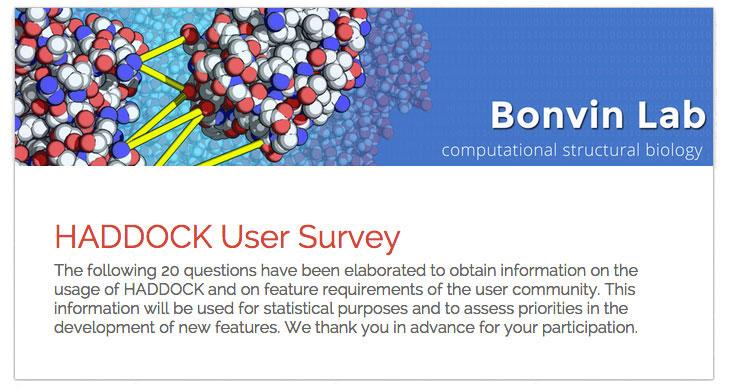 HADDOCK Survey Statistics \u2013 Bonvin Lab