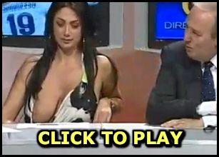 boob slip on tv