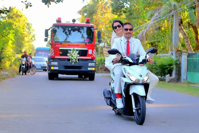 Celebrate your honeymoon on 2 wheel