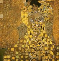 Portrait of Adele Bloch (gold foil)