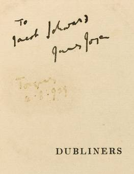 Signed Dubliners by Joyce