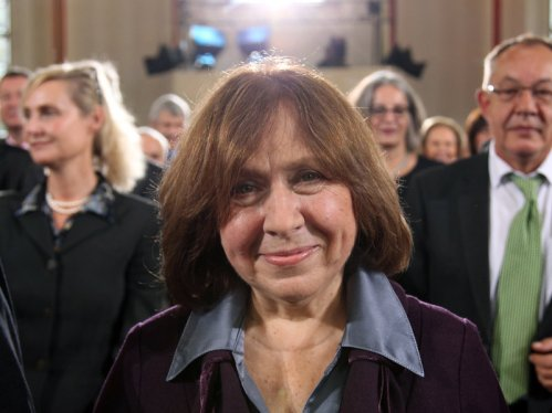 Belarusian journalist Svetlana Alexievich, during the ceremony for the German Book Trade Peace Prize, which she won in 2013.