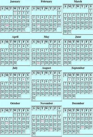 image about Perpetual Calendar Chart titled Perpetual Calendar Working day Of 7 days Calendar Chart Upon Distinct