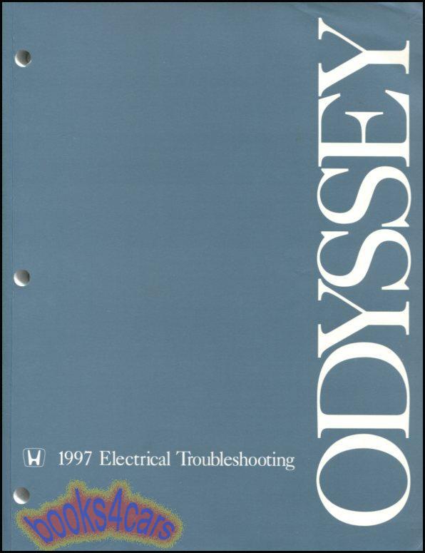 SHOP MANUAL ODYSSEY SERVICE REPAIR 1997 HONDA BOOK ELECTRICAL WIRING