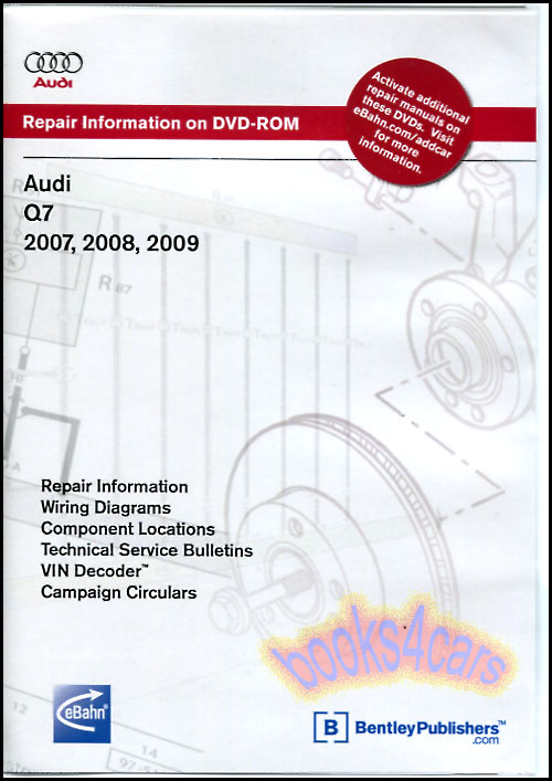 SHOP MANUAL Q7 SERVICE REPAIR AUDI BOOK ROBERT BENTLEY CD DVD eBay