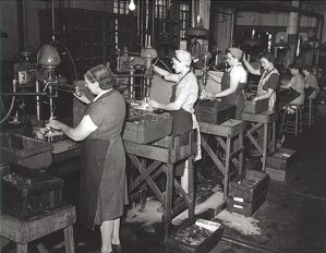 Factory girls during world war ii
