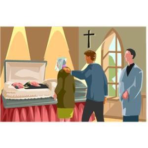 Husband's funeral