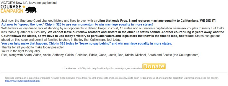 VICTORY! Now let's leave no gay behind