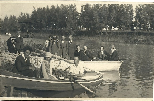 Boating party on the Yarkon River, Tel Aviv, 1920s