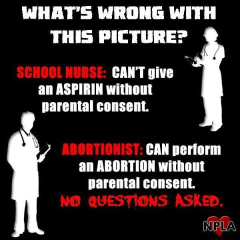 Abortions and aspirins at school