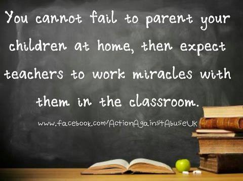 Parenting not teachering