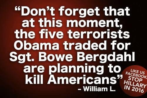 Five terrorists versus Bergdahl