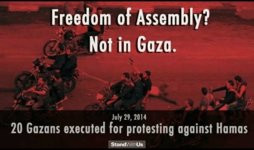 No freedom of assembly in Gaza