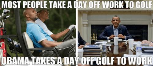 Obama and golf