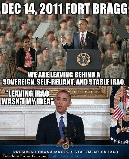 Obama tells tales about Iraq