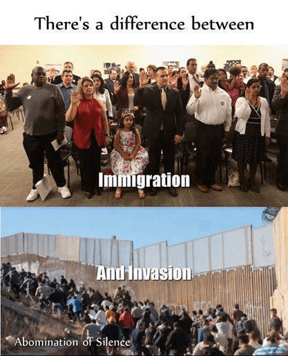 The difference between immigration and invasion