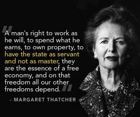 Margaret Thatcher on essential freedoms