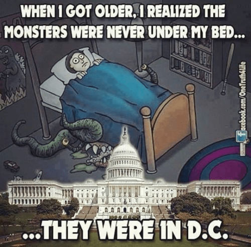 Monsters aren't in bed but are in DC