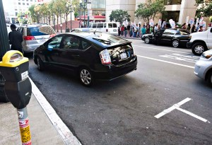 Prius parked badly