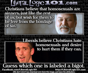 Christians and homosexuals gays
