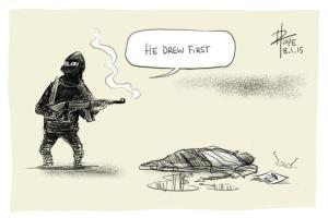 David Pope image he drew first