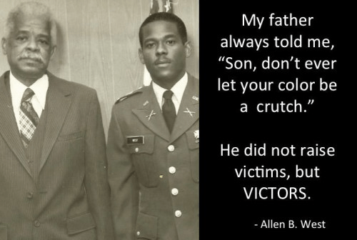 Allen West's father